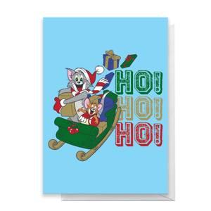 Tom And Jerry Sleigh Ho! Ho! Ho! Greetings Card