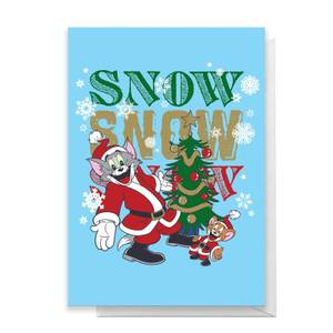 Tom And Jerry Snow Snow Snow Greetings Card