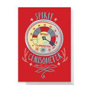 Elf Spirit Clausometer Greetings Card