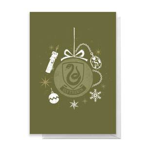 Harry Potter Slytherin Christmas Greetings Card