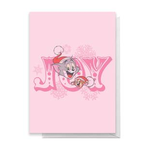 Tom And Jerry Joy Greetings Card