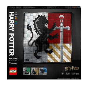 LEGO Art Harry Potter: Hogwarts Crests Poster Canvas Set (31201)