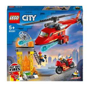 LEGO City: Fire Rescue Helicopter and Motorbike Toy (60281)