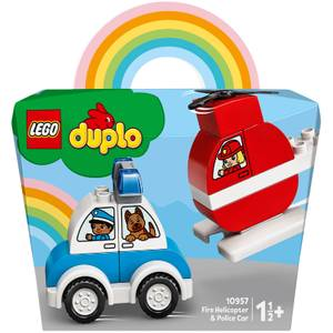 LEGO DUPLO My First: Fire Helicopter and Police Car Toy (10957)