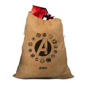 Avengers Logos Christmas Santa Sack