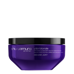 Shu Uemura Art of Hair Yubi Blonde Anti-Brass Purple Balm for Bleached, Highlighted Blonde Hair 200ml