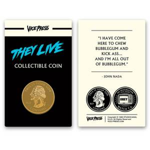 John Carpenter's - They Live Limited Edition Silver Collector Coin