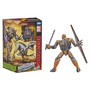 Hasbro Transformers Generations War for Cybertron: Kingdom Voyager WFC-K18 Dinobot Action Figure