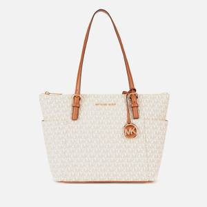 MICHAEL Michael Kors Women's Jet Set Item Eastwest Tote Bag - Vanilla/Acorn