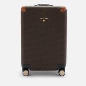 MICHAEL Michael Kors Women's Travel Signature Small Hardcase Trolley - Brown/Acorn