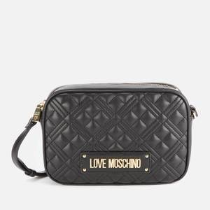 Love Moschino Women's Quilted Camera Bag - Black