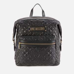 Love Moschino Women's Quilted Backpack - Black