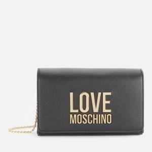 Love Moschino Women's Logo Chain Cross Body Bag - Black