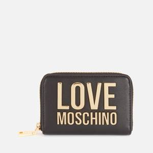 Love Moschino Women's Small Logo Wallet - Black