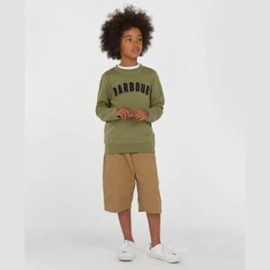 Barbour Boys' Prep Logo Crew Neck Sweatshirt - Moss