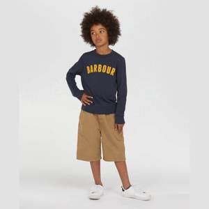 Barbour Boys' Prep Logo Crew Neck Sweatshirt - Navy