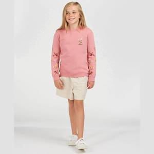 Barbour Girls' Rowen Overlayer Sweatshirt - Vintage Rose