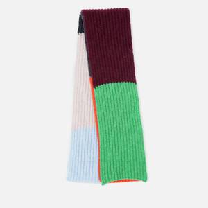 Ganni Women's Block Colour Knitted Recycled Wool Scarf - Block