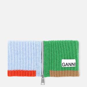 Ganni Women's Block Colour Knitted Recycled Wool Collar - Block