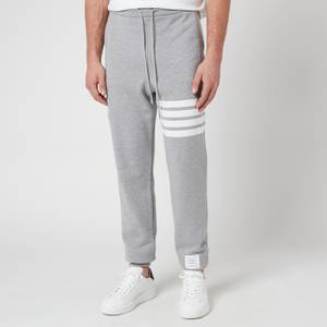 Thom Browne Men's Engineered Four-Bar Classic Sweatpants - Light Grey