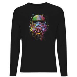 DC Justice League Core Paint Splat Stormtrooper Unisex Long Sleeve T-Shirt - Black