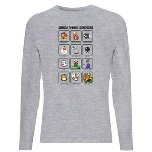 Nintendo Know Your Enemies Unisex Long Sleeve T-Shirt - Grey