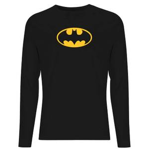 DC Justice League Core Batman Logo Unisex Long Sleeve T-Shirt - Black