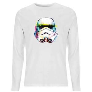 Star Wars Classic Stormtrooper Paintbrush Unisex Long Sleeve T-Shirt - White