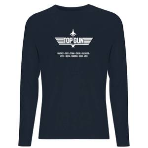 Top Gun Codenames Unisex Long Sleeve T-Shirt - Navy
