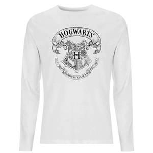 Harry Potter Hogwarts Crest Unisex Long Sleeve T-Shirt - White