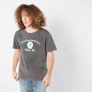 South Park Cows Phys Ed Unisex T-Shirt - Black Acid Wash