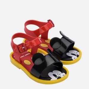Mini Melissa Toddlers' Mini Disney Sandals - Red Mickey