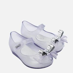 Mini Melissa Toddlers' Mini Ultragirl Stars Ballet Flats - Clear Dust Bow