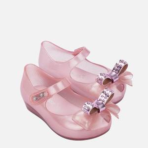 Mini Melissa Toddlers' Mini Ultragirl Stars Ballet Flats - Pink Dust Bow