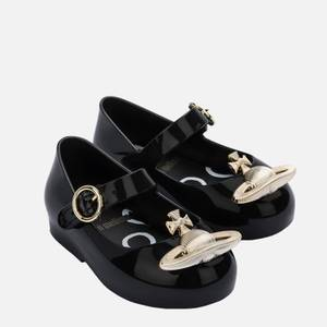 Mini Melissa Toddlers' Mini VW Sweet Love Ballet Flats - Black Orb