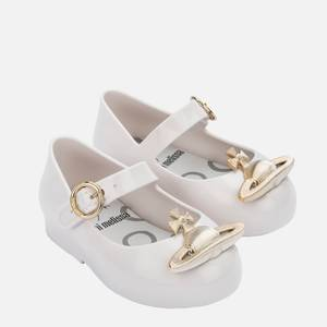 Mini Melissa Toddlers' Mini VW Sweet Love Ballet Flats - White Orb