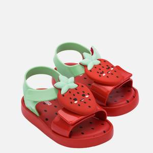 Mini Melissa Toddlers' Mini Jump Fruitland Sandals - Strawberry