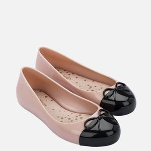 Mini Melissa Kids' Sweet Love Toe Cap Ballet Flats - Pale Pink