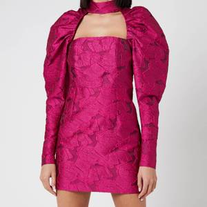 ROTATE Birger Christensen Women's Kaya Dress - Carmine Rose Combo