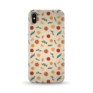 Floral Fruit Peach Background Phone Case for iPhone and Android