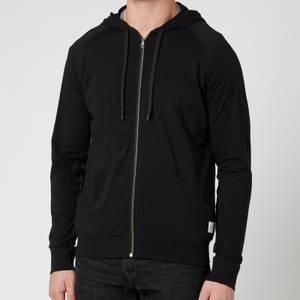 PS Paul Smith Men's Tape Zip Through Hooded Sweatshirt - Black