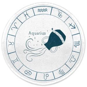 Aquarius Circle Round Bath Mat
