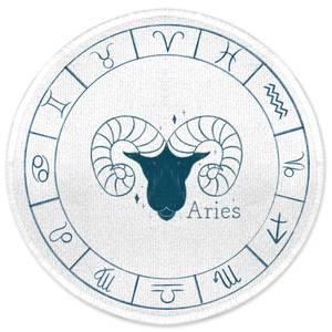 Aries Circle Round Bath Mat