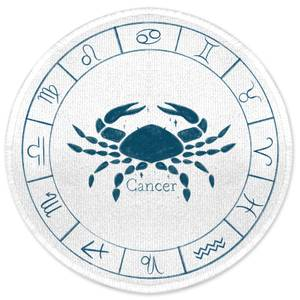 Cancer Circle Round Bath Mat
