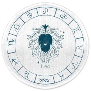 Leo Circle Round Bath Mat