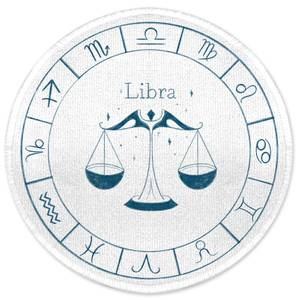 Libra Circle Round Bath Mat