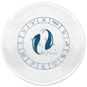 Pisces Circle Round Bath Mat