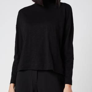 Whistles Women's High Neck Relaxed Top - Black