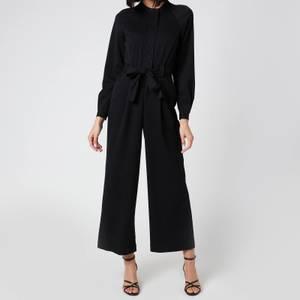 Whistles Women's Tie Front Jumpsuit - Black