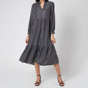 Whistles Women's Denim Trapeze Dress - Black